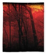 Autumn 2015 Panorama In The Woods Pa 06 Fleece Blanket