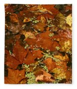 Autumn Abstract Fleece Blanket