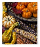 Autumn Abundance Fleece Blanket