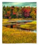 Autumn Along The River Fleece Blanket