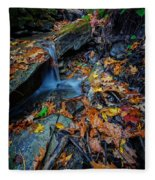 Autumn At A Mountain Stream Fleece Blanket