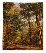 Autumn At Audubon Fleece Blanket