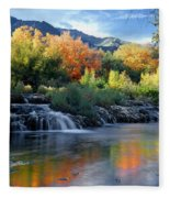 212m47-autumn At Cascade Springs  Fleece Blanket