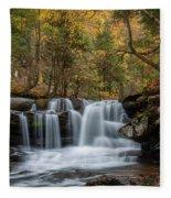 Autumn At Dunloup Creek Falls Fleece Blanket