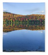 Autumn At Heart Lake Fleece Blanket