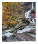 Autumn At Kaaterskill Falls Fleece Blanket