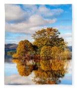 Autumn At Milarrochy Bay Fleece Blanket