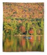 Autumn At North Lake Fleece Blanket