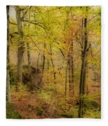 Autumn At Rim Rock Fleece Blanket