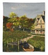 Autumn At The Lake Fleece Blanket