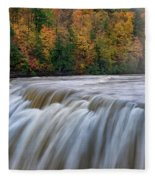 Autumn At The Middle Falls  Fleece Blanket