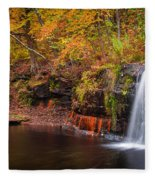 Autumn At Wolf Creek Falls Fleece Blanket