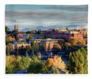 Autumn At Wsu Fleece Blanket