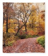 Autumn Azalea Garden Fleece Blanket