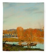Autumn Banks Of The Seine Near Bougival Fleece Blanket