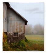 Autumn Barn Fleece Blanket