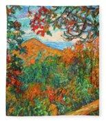 Autumn Beauty From Sharp Top Fleece Blanket