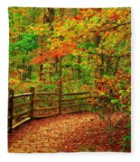 Autumn Bend - Allaire State Park Fleece Blanket