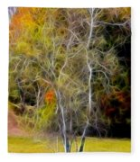 Autumn Birch Fleece Blanket