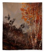 Autumn Birches  Fleece Blanket