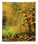 Autumn Bliss Of Color Fleece Blanket