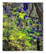 Autumn Blue  Fleece Blanket