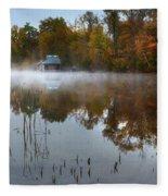 Autumn Boathouse Fleece Blanket