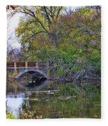 Autumn Bridge Fleece Blanket