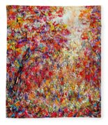Autumn Brilliance Fleece Blanket