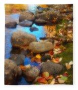 Autumn By The Creek Fleece Blanket