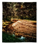 Autumn By The Creek Fleece Blanket