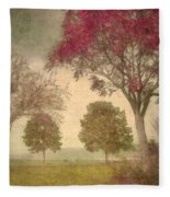 Autumn By The Lake  Fleece Blanket