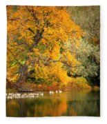 Autumn Calm Fleece Blanket