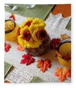 Autumn Centerpiece Fleece Blanket