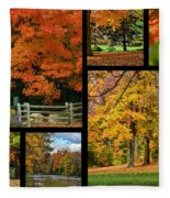 Autumn Collage Fleece Blanket