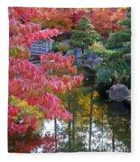 Autumn Color Reflection - Digital Painting Fleece Blanket