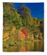 Autumn Color Trees Along Beauty Lake Fleece Blanket
