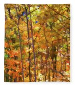 Autumn Colored Fleece Blanket