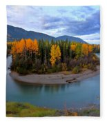 Autumn Colors Along Tanzilla River In Northern British Columbia Fleece Blanket