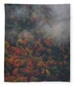 Autumn Colors In The Clouds Fleece Blanket