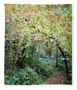 Autumn Colors In The Forest Fleece Blanket