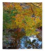 Autumn Colors Of Reflection Fleece Blanket