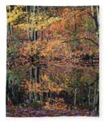 Autumn Colors Reflect Fleece Blanket