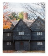 Autumn Comes To The Witch House Fleece Blanket