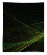 Autumn Computer Graphic Line Pattern Fleece Blanket