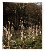 Autumn Cornstalks Fleece Blanket