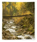 Autumn Crossing Fleece Blanket