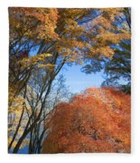 Autumn Day Fleece Blanket