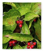 Autumn Dogwood Berries Fleece Blanket