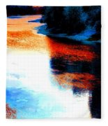 Autumn Down By The River Fleece Blanket